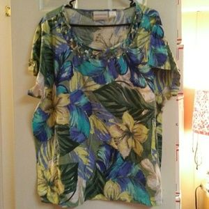 Alfred Dunner Bright Floral Blouse